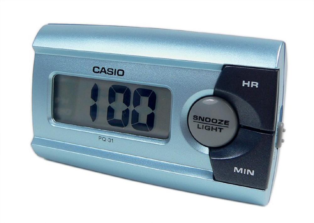 digital reisewecker mit snooze funktion blau casio pq 31. Black Bedroom Furniture Sets. Home Design Ideas