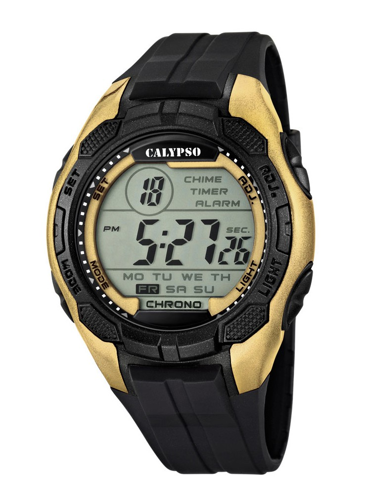 calypso by festina armband herrenuhr digital chrono. Black Bedroom Furniture Sets. Home Design Ideas